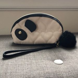 Betsey Johnson Panda 🐼 Clutch- fits iPhone 8